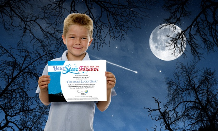 YourStarForever.com: Dedicate 1 or 2 Stars with Video, Message, Photo, and Certificate from YourStarForever.com (Up to 74%  Off)