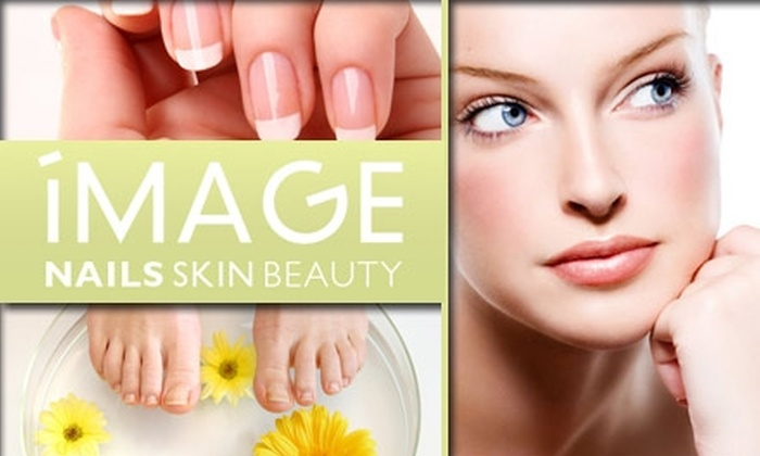 Image Nails - Loop: $60 for Two Spa Manicures and Pedicures Plus Two Eyebrow Waxes or Threading at Image Nails Skin Beauty