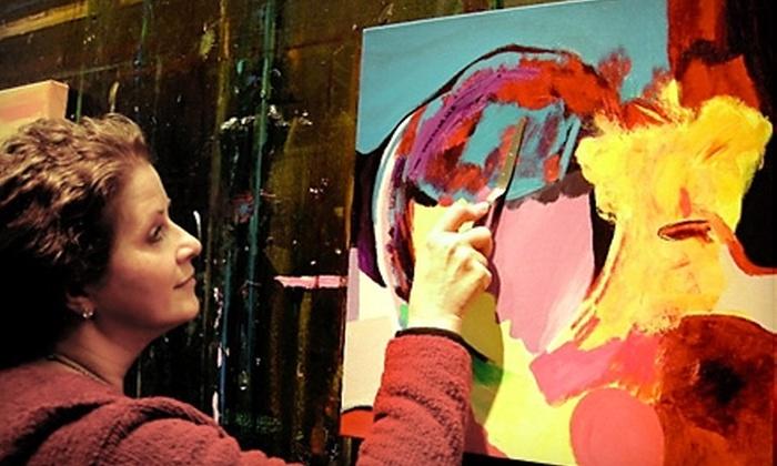 Art Class Dallas - West Dallas: $35 for Private One-Hour Art Lesson at Art Class Dallas ($70 Value)