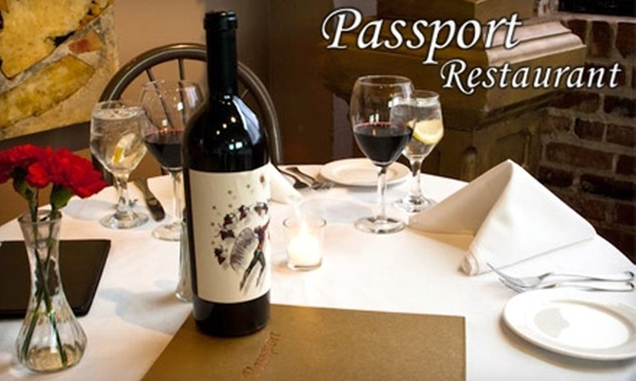 Passport Restaurant - Downtown: $25 for $50 Worth of International Fare and Drinks at Passport Restaurant