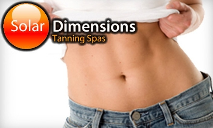 Solar Dimensions - Multiple Locations: $39 for One Month of Unlimited Use of the Beauty Angel Full-Body Rejuvenation Booth at Solar Dimensions ($99 Value)