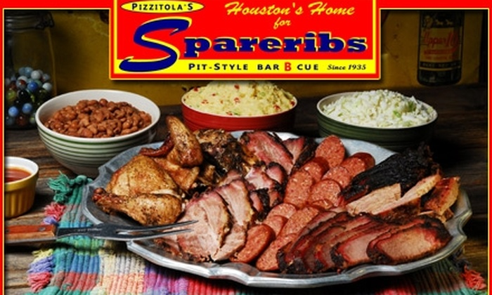 Pizzitola's - Washington Ave./ Memorial Park: $25 Family Pack of Barbecue Brisket, Chicken Links, and Pork from Pizzitola's ($40 Value)