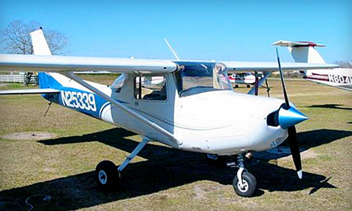 The Flight School - Northwest Harris: Discovery Flight for One, Two, or Three or Private-Pilot Training from The Flight School in Cypress (Up to 59% Off)