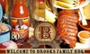 Brooks Family BBQ - Houston: $45 for a Barbecue-Dinner Package from Brooks Family BBQ ($88.53 Value)