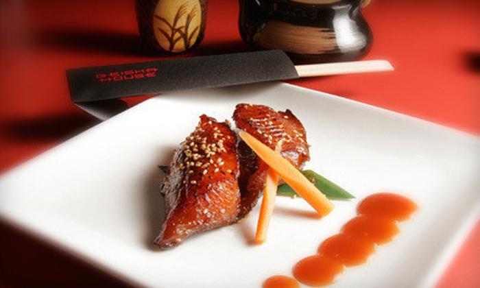 Geisha House - Hollywood: $50 Worth of Japanese Food and Drinks