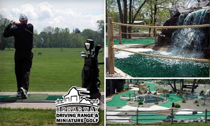 Broadway Driving Range & Miniature Golf - Depew: $6 for Two Buckets of Driving Range Balls or Two Rounds of Mini Golf at Broadway Driving Range & Miniature Golf (Up to a $14 Value)