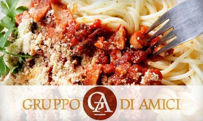 Gruppo di Amici - Rogers Park: $20 for $40 Worth Of Fresh, Roman-Style Italian Cuisine and Drinks at Gruppo di Amici