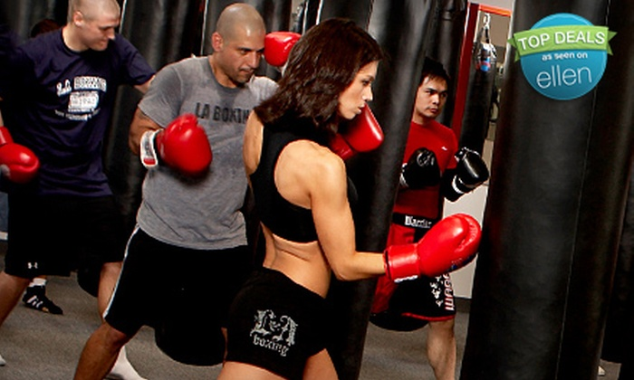 LA Boxing - Multiple Locations: $55 for One Month of Unlimited Classes Including Boxing Glove and Wrap Rental at LA Boxing ($360 Value)