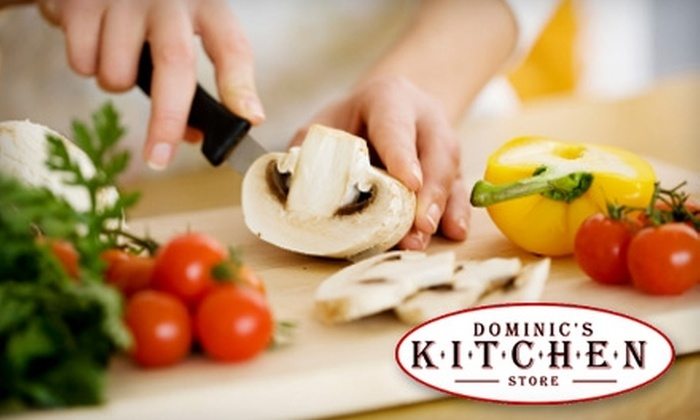 Dominic's Kitchen Store - Park Ridge: $20 for a Demonstrative Cooking Class ($40 Value) Plus 30% Off Same-Day In-Store Purchases at Dominic's Kitchen Store in Park Ridge