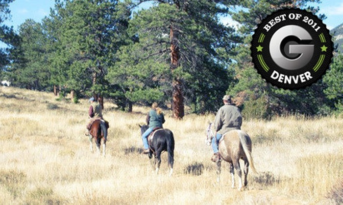 Estes Park Horseback - Estes Park: 90-Minute Horseback Ride and Continental Breakfast for Two or Four at Estes Park Horseback (Up to 55% Off)