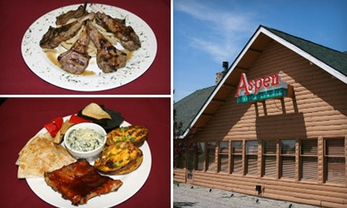 Aspen Restaurant and Bar - Macomb: $10 for $25 Worth of Steak, Seafood, and More at Aspen Restaurant and Bar