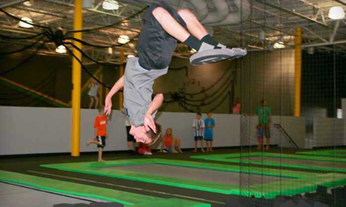 Hang Time Sports - Lehi: One-Hour Trampoline-Park Outing for Two, Four, or Eight or a Two-Hour Private Party at Hang Time Sports in Lehi (Up to 55% Off)