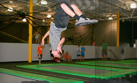 One Hour in the Trampoline Park for 2 People (a $16 value) - Hang Time Sports in Lehi
