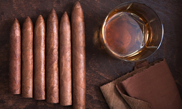 Central Cigars - Downtown St. Petersburg: Premium Bourbon-, Port-, or Scotch-Tasting Flight with One Cigar at Central Cigars in St. Petersburg (Up to 53% Off)