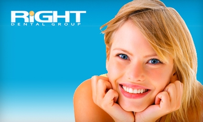 Right Dental Group - Multiple Locations: $35 for a Dental Exam, Cleaning, and X-rays at Right Dental Group ($300 Value). Choose From Nine Locations