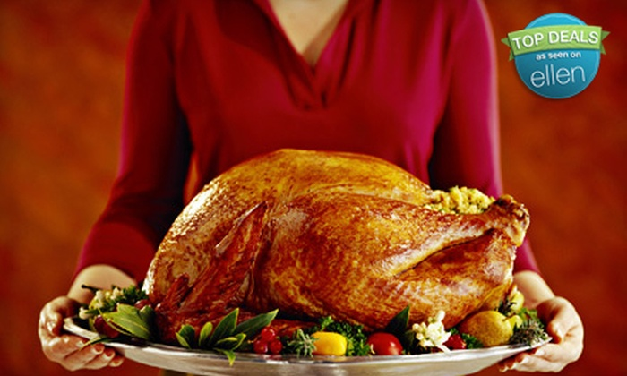 Running Wild Catering - Wilshire Ridge: $69 for a Roasted-Turkey Dinner with Ham, Sides, and Dessert for 8 at Running Wild Catering ($139 Value)