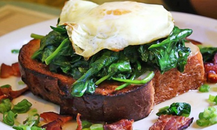 Breakfast Food at Over Easy (Up to 40% Off). Two Options Available.