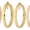 18-Karat Gold-Plated Hoop Earrings