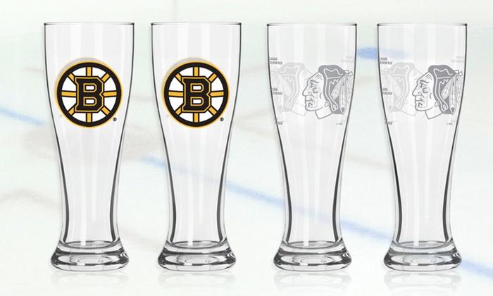 NHL Pilsner-Glass Two-Packs: $12.99 for Two NHL Pilsner Glasses ($34.95 List Price). Multiple Teams Available. Free Returns.