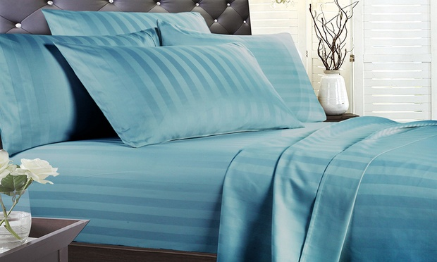 From $45 for a 1,000 Thread Count Cotton Striped Sheet Set or Duvet Cover Set