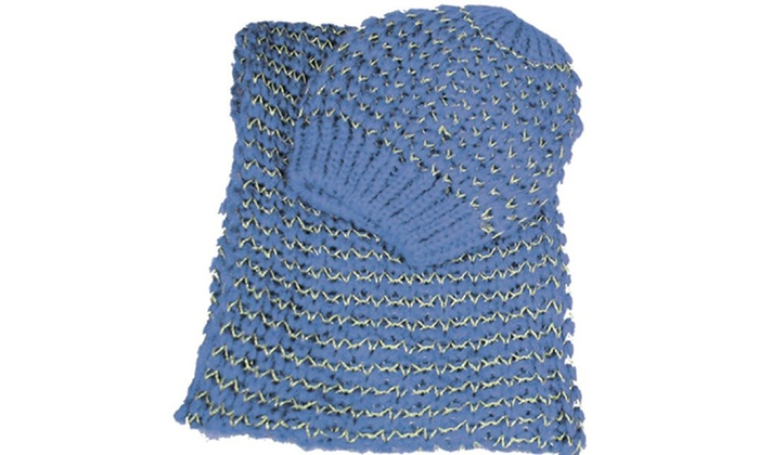 London Fog Women's Knit Hat and Scarf