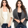 Women's Oversized Textured Knit Circle Cardigan