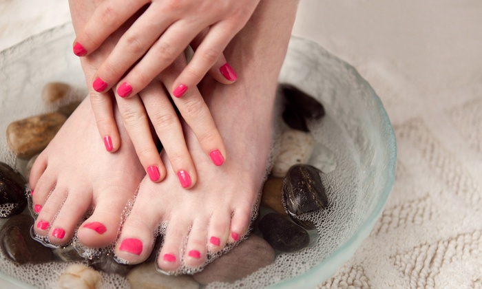 Karen Gibson at Hello Beautiful Salon - Hancock: One or Three Shellac Manicures with Pedicures from Karen Gibson at Hello Beautiful Salon (Up to 53% Off)