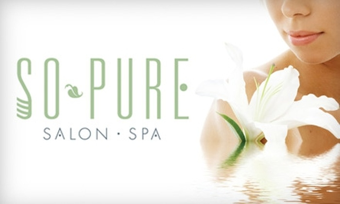 So-Pure Salon and Spa - Tallahassee: $35 for a One-Hour Aveda Elemental Nature Massage at So-Pure Salon and Spa ($75 Value)