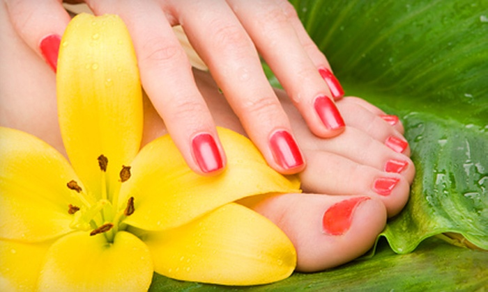 ManiQ Salon - Lower East Mills - Cedar Grove: $75 for Three Deluxe Spa Mani-Pedis at ManiQ Salon ($149.94 Value)