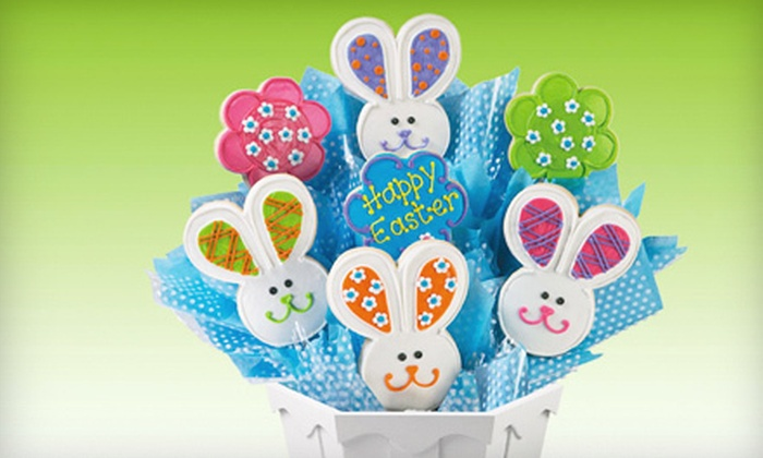Cookies By Design - Santee: 13-Inch Pan Cookie or Seven-Cookie Bouquet from Cookies By Design in Santee (Up to 53% Off)