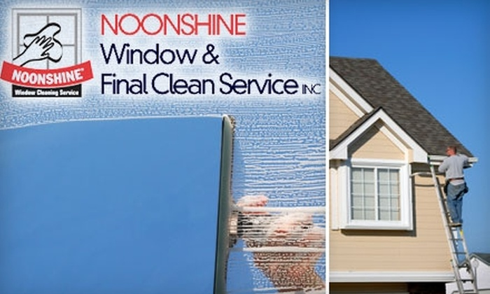 Noonshine Window & Gutter Cleaning Service - Kansas City: $49 for Window or Gutter Cleaning from Noonshine Window & Gutter Cleaning Service ($100 Value)
