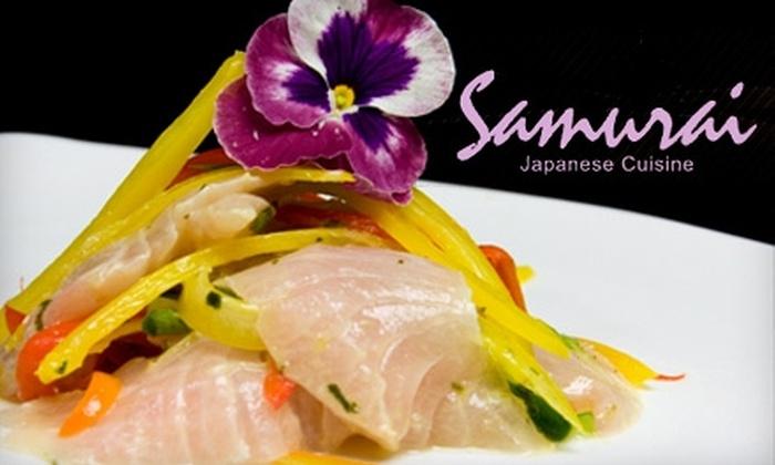 Samurai Japanese Cuisine - Greenpoint: $10 for $20 Worth of Sushi and Japanese Fare at Samurai Japanese Cuisine