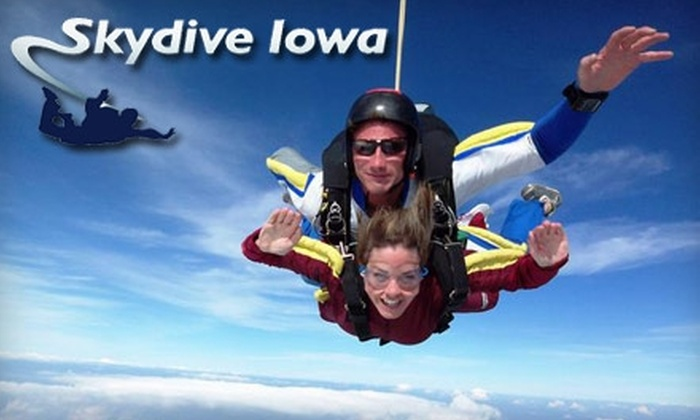 Skydive Iowa - Warren: $120 for One Tandem Skydiving Jump at Skydive Iowa in Brooklyn (Up to $205 Value)
