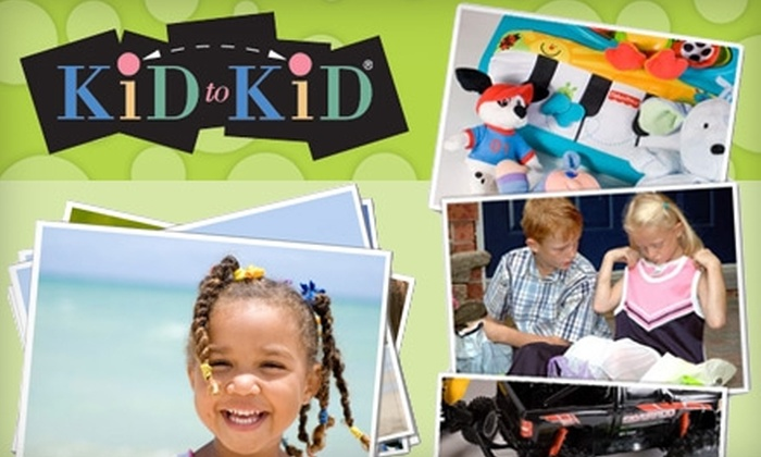 Kid to Kid - Multiple Locations: $12 for $30 Worth of Gently Used Kids Clothing, Toys, Baby Gear, Maternity, and More at Kid to Kid