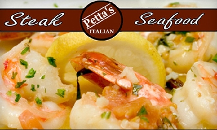 Petta's Restaurant - Hamilton Hills: $10 for $25 Worth of Italian Cuisine and Drinks at Petta's Restaurant in Schenectady