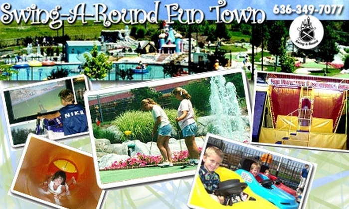 Swing-A-Round Fun Town - Fenton:  $10 for 18 Holes of Mini Golf, Two Attraction Passes, and a Medium Soda at Swing-A-Round Fun Town in Fenton (Up to $21 Value)