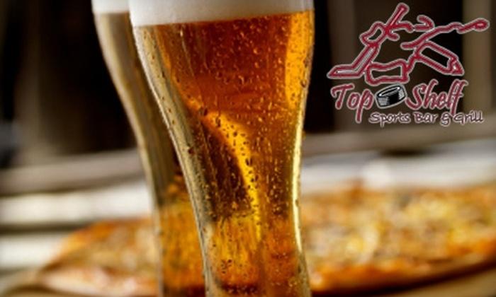 Top Shelf Sports Bar & Grill - Ajax: $7 for $15 for Pub Fare and Drinks at Top Shelf Sports Bar & Grill in Ajax