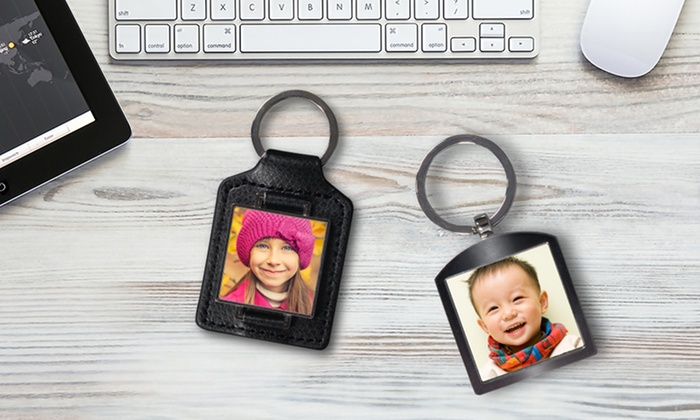York Photo: Personalized Leather or Silver Keychain from York Photo (Up to 53% Off)