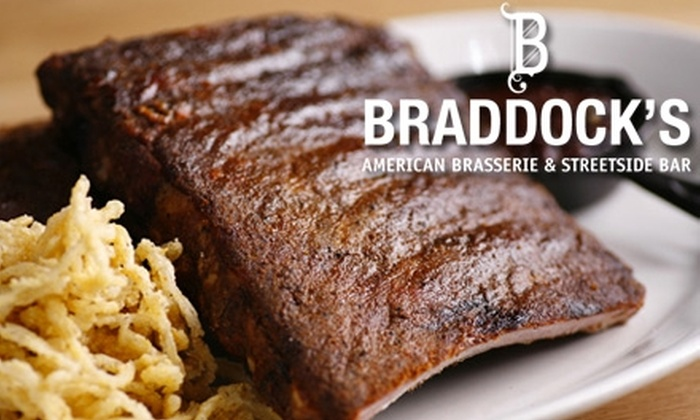 Braddock's American Brasserie - Downtown: $20 for $40 Worth of Upscale Cuisine at Braddock's American Brasserie