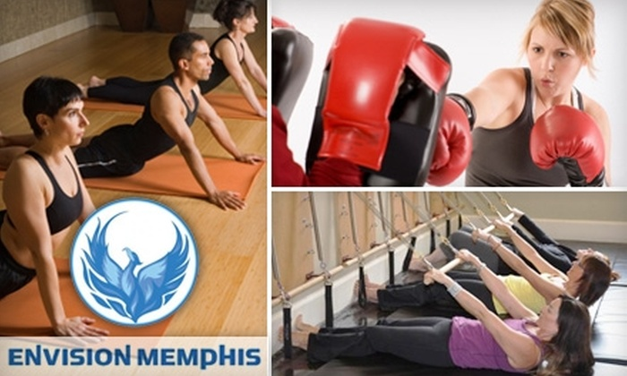 Envision Memphis - Downtown Medical Center: $15 for Three Kickboxing, Pilates, Yoga, or Boot-Camp Classes at Envision Memphis ($45 Value)