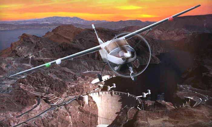 Vegas 500 Air Tours - Henderson: $85 for a VIP Night-Flight Adventure over Hoover Dam from Vegas 500 Air Tours ($169 Value)