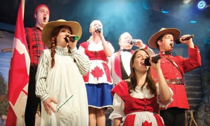 """Cornerstone Theatre & Restaurant - Canmore: $37 for One Ticket to """"Oh Canada Eh? Dinner Show"""" at Cornerstone Theatre & Restaurant in Canmore (Up to $75 Value). Four Dates Available."""