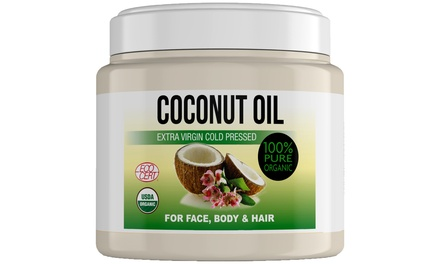 One, Two or Three Jars of Extra Virgin Cold-Pressed Coconut Oil 500ml