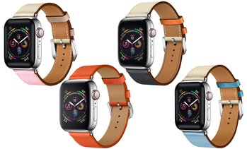 Posh Tech Elegant Leather Band for Apple Watch Series 1, 2, 3, 4, & 5