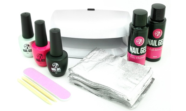 W7 nail gel salon kit groupon goods for 901 salon prices