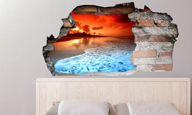 sticker mural 135 x 70 cm groupon shopping. Black Bedroom Furniture Sets. Home Design Ideas