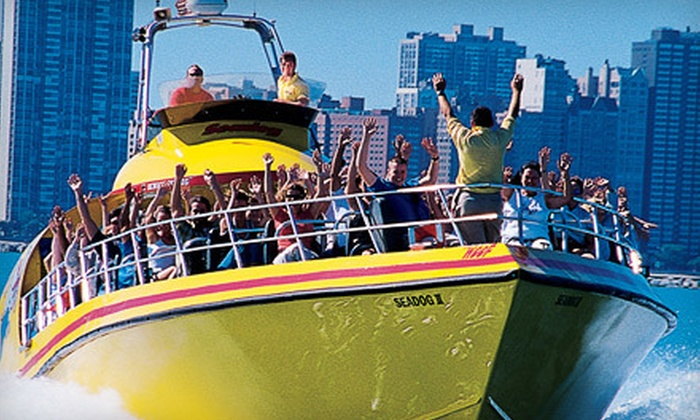 Seadog Cruises  - Near North Side: Lakefront Speedboat Tour, Extreme Thrill Ride, or  Architectural River Tour from Seadog Cruises (Up to 47% Off)