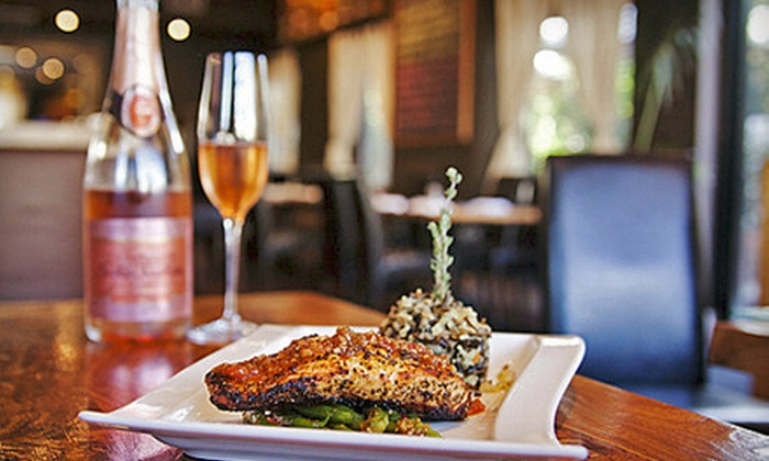 The Grill Pit - Beverly Hills: Mediterranean Meal for Two or Four with Appetizer, Dessert, and Wine at The Grill Pit (Up to 51% Off)