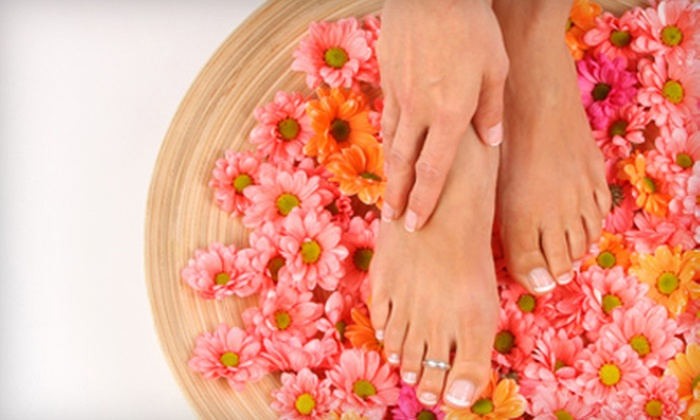 David James Salon and Day Spa  - Mill Basin: Manicure and Pedicure at David James Salon and Day Spa in Brooklyn. Two Options Available.