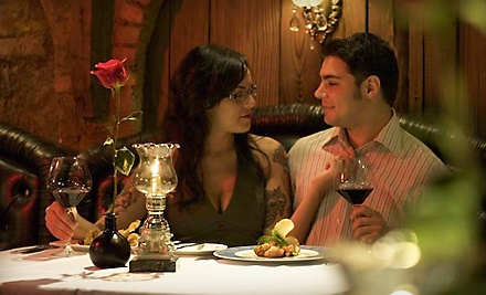 The Cellar: Dinner for Two with an Appetizer, Two Entrees, and Two Glasses of Wine - The Cellar in Fullerton